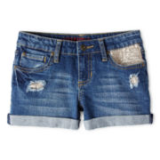 Arizona Embellished Denim Shorts - Girls 6-16 and Plus