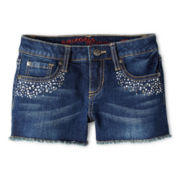 Arizona Embellished Denim Cutoff Shorts - Girls 6-16 and Plus