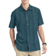 Van Heusen® Short-Sleeve Textured Stripe Sport Shirt