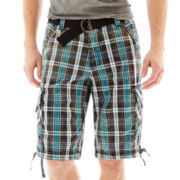 Chalc Plaid Cargo Shorts
