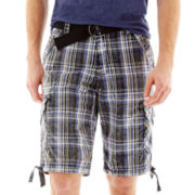 Chalc® Plaid Cargo Shorts