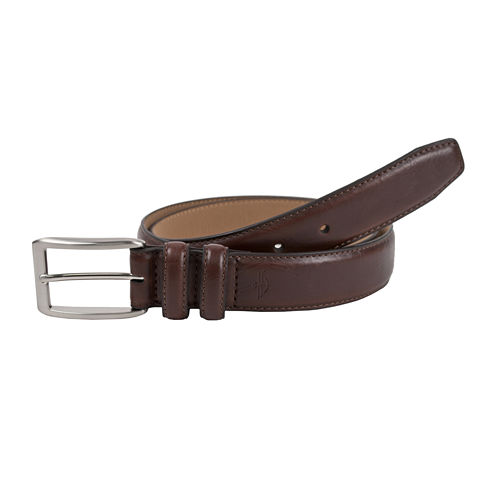 Dockers® Brown Leather Feather Edge Belt–Big & Tall