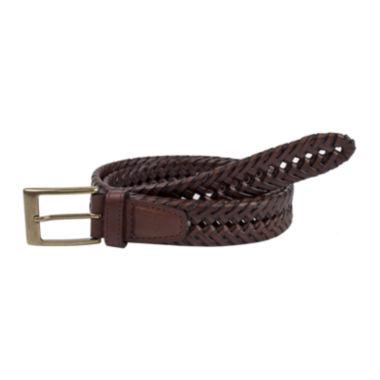 jcpenney.com | Dockers® Brown Leather V-Weave Belt–Big & Tall