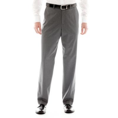 IZOD® Gray Striped Flat-Front Suit Pants