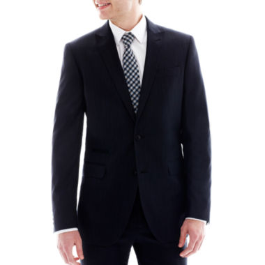 jcpenney.com | JF J. Ferrar Navy Variegated Stripe Suit Jacket - Slim-Fit