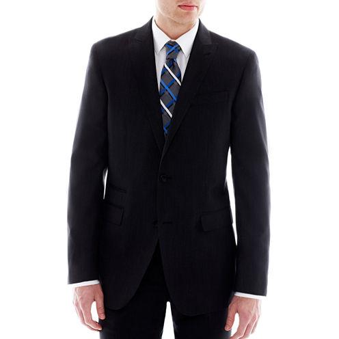 JF J. Ferrar Black Nailhead Slim-Fit Suit Jacket