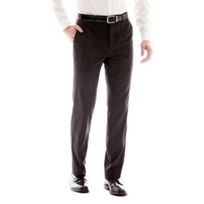Men's JF J. Ferrar Black Nailhead Slim-Fit Flat-Front Suit Pants