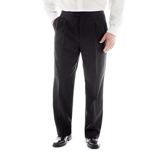 Stafford® Pleated Tuxedo Pants–Big & Tall