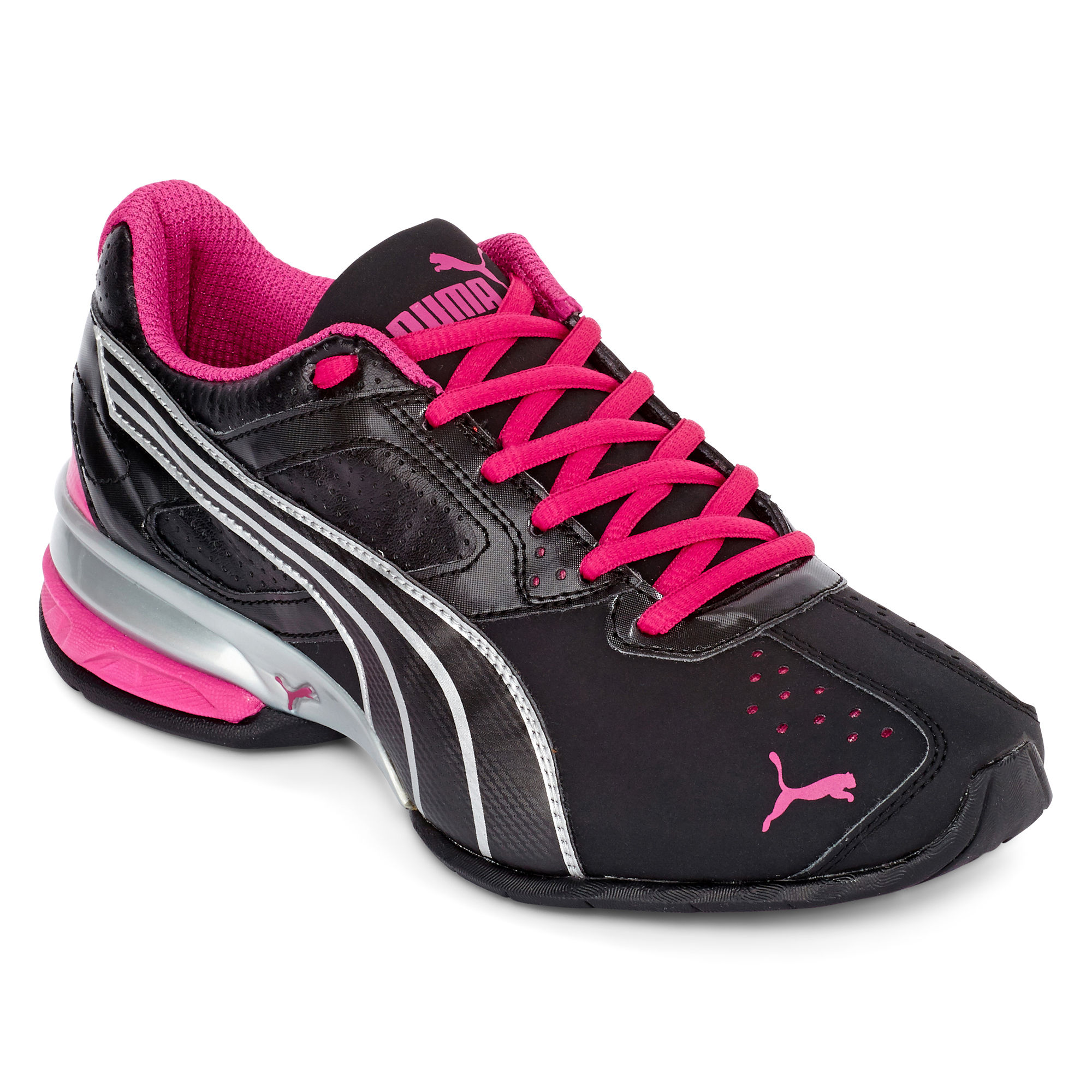Puma Womens Tazon 5 Athletic Shoes, Black/Silver/Pink on ...