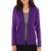 Liz Claiborne® Long-Sleeve Shawl-Collar Cardigan Sweater - Petite