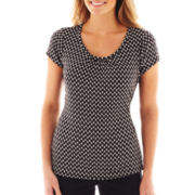 Worthington® Short-Sleeve Scoopneck Top