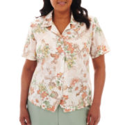 Alfred Dunner® Amalfi Coast Floral Print Blouse - Plus