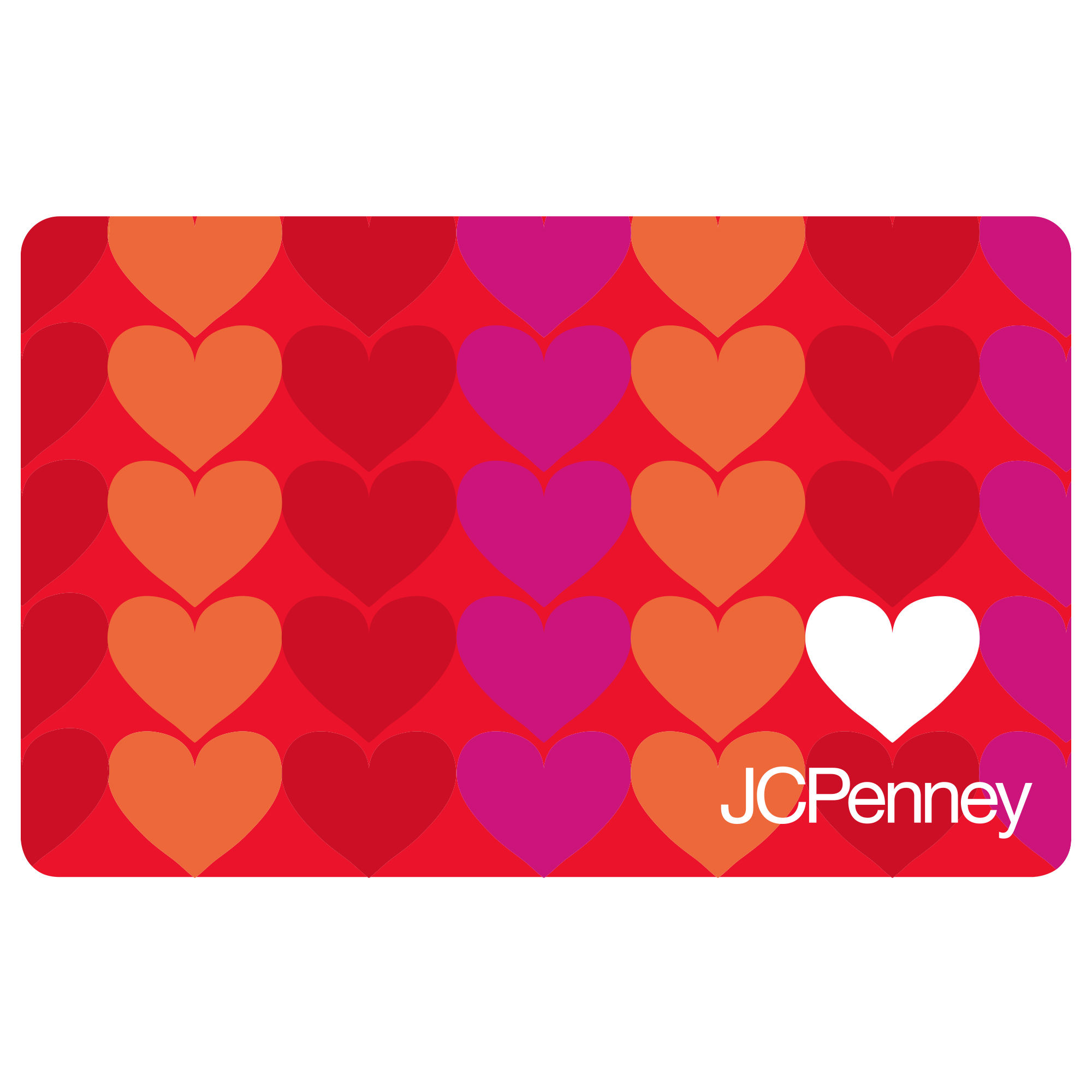 50 White Heart Love Gift Card