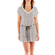 St. John's Bay® Striped Cover-Up Dress