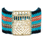 Mixit™ Multicolor Seed Bead Gold-Tone Bracelet