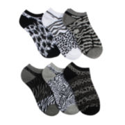 Mixit™ 6-pk. Animal Print No-Show Socks