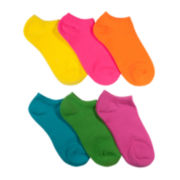 Mixit™ 6-pk. Bright Solid No-Show Socks