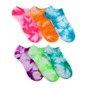 Mixit™ 6-pk. Tie-Dyed No-Show Socks