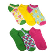 Mixit™ 6-pk. Fruit Print No-Show Socks