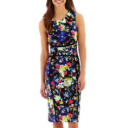 nicole by Nicole Miller® Sleeveless Floral Print Sheath Dress