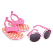 Carter's® Sunglasses and Polka Dot Flip Flops Set - Girls 3m-12m