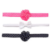 Carter's® 3-pk. Rosetta Bow Headwraps