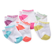 Carter's® 6-pk. Terry Crew Socks - Girls 3-24m