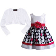 Disorderly Kids® Cardigan or Youngland® Polka Dot Dress – Preschool Girls