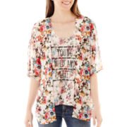 California Gypsy Kimono with Reversible Tank Top