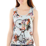 Snoopy Floral Print Tank Top