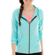 Chin-Up Long-Sleeve Front-Zip Hoodie