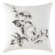 Home Expressions™ Vermillion Floral Square Decorative Pillow