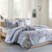 Intelligent Design Athos Sketch Floral Comforter Set