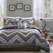 Intelligent Design Eve Chevron Comforter Set
