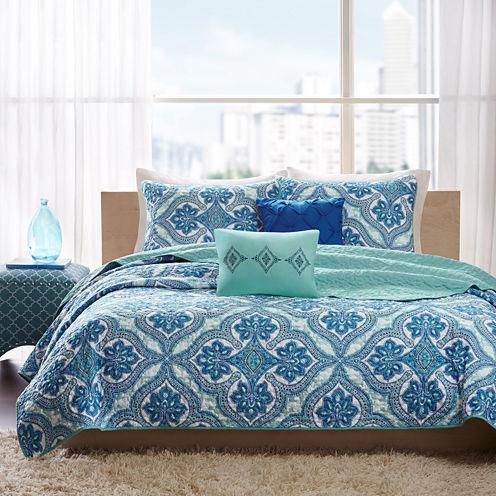 Intelligent Design Lana Bohemian Quilt Set