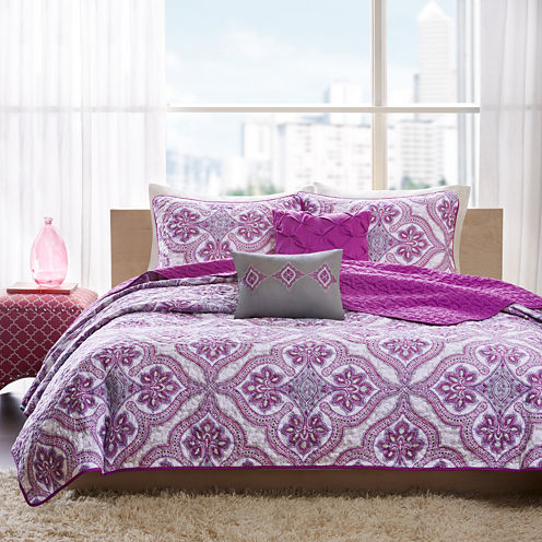 Intelligent Design Audrey Bohemian Quilt Set