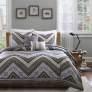 Intelligent Design Eve Chevron Quilt Set