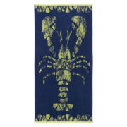 Outdoor Oasis Jacquard Lobster Beach Towel