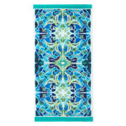 Outdoor Oasis Mosaic Tile Beach Towel