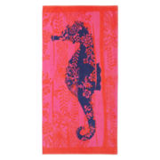 Outdoor Oasis Sea Horse Beach Towel