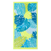 Outdoor Oasis Palm Leaves Beach Towel