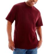 Claiborne Drop-Needle Tee-Big & Tall