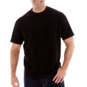 Claiborne® Drop-Needle Tee-Big & Tall