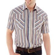Ely Cattleman Short-Sleeve Stripe Snap Shirt-Big & Tall