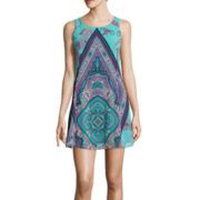 My Michelle® Sleeveless Paisley Print A-Line Dress