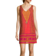City Triangles® Sleeveless A-Line Dress With Necklace
