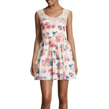 jcpenney.com | City Triangles® Sleeveless Floral-Print Poplin Dress- Juniors