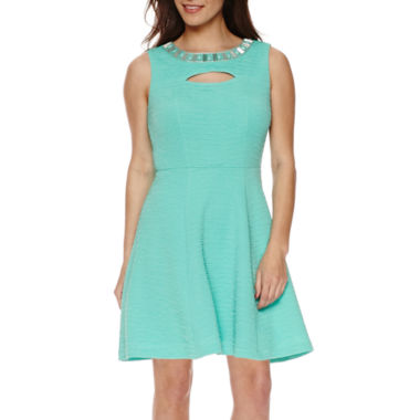 jcpenney.com | Studio 1® Sleeveless Embellished Fit-and-Flare Dress - Petite