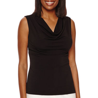 jcpenney.com | Black Label by Evan-Picone Sleeveless Cowlneck Top
