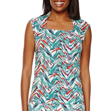 jcpenney.com | Black Label by Evan-Picone Sleeveless Chevron Print Top